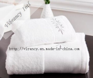 100% Cotton White Terry Hotel Bath Towel pictures & photos