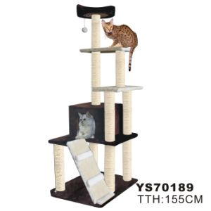 Cat Scratcher Tree W/Leaves Decoration (YS70189) pictures & photos