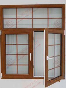 High Quality Woodgrain PVC Side-Hung Window (BHP-CWP02) pictures & photos