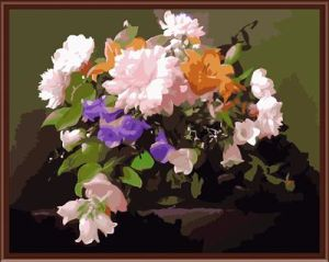 Canvas Painting by Numbers Flower Picture Oil Painting 2015 New Hot Photo