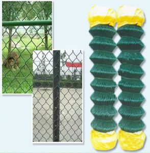 China Supplier 50X50mm Green Vinyl Coated Chain Link Fence Mesh pictures & photos