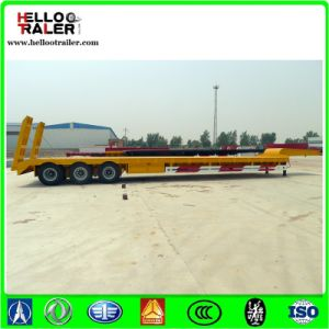 China Made 3 Axle Lowbed Trailer for Excavator Transport pictures & photos