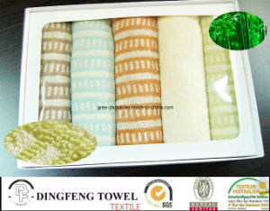 Pure Natural Yarn Dyed Jacquard Series Bamboo Gift Towels pictures & photos