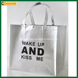 Customized Fashion Luxurious High Quality Metallic Siver Laminated Shopping Bags pictures & photos