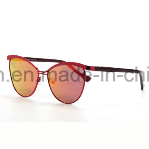 Fashionable Mirror Lens Eye Cat Polarized Sunglasses pictures & photos