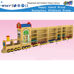 Wooden Toy Train Modeling Cabinet for Kids Wooden Role Play (HB-04802) pictures & photos
