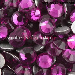 Bling Crystal Stone AAA DMC Fuchsia Color Decorative Glass Stones pictures & photos