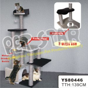 Luxury Cat Furniture with Bowl Cat Tree, Size 139cm, Double Colors Sisal Pet Toy pictures & photos