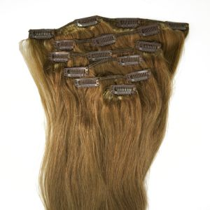 Highest Quality Real Remy Clip in Human Hair Extension pictures & photos