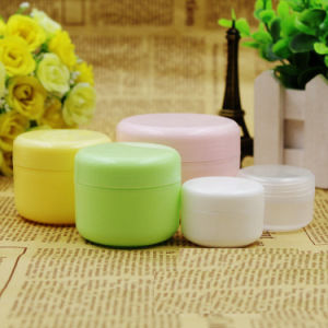 Customized Color Green Cosmetic Glass Jar Red Cosmetic Glass Jar Yellow Cosmetic Glass Jar pictures & photos