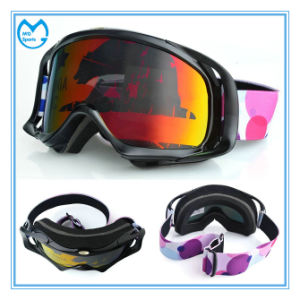 Photochromic Square Clearance TPU Frame Motorcycle Goggles with Outtrigger pictures & photos