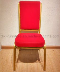 Metal Iron Banquet Restaurant Chair with Moulded Seat Sponge pictures & photos