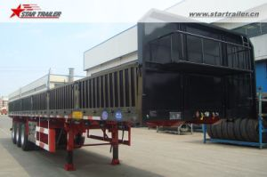 Drop Side Semi Truck Trailer with Container Locks pictures & photos
