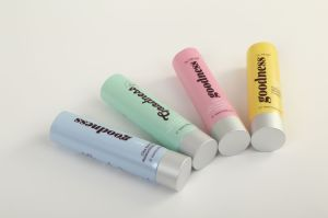 Plastic Cosmetic Tube with Aluminum Cap pictures & photos