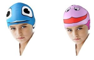 Swim Cap, Waterproof Earmuffs Silicone Swim Cap for Kids pictures & photos