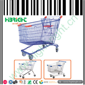 Powder Coated Shopping Cart Trolley pictures & photos