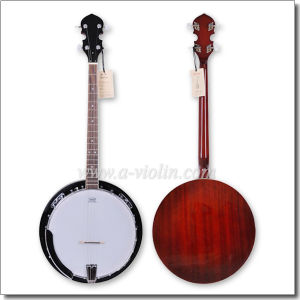 Remo Head Mahogany Plywood 4 Strings Banjo with Binding (ABO244G) pictures & photos