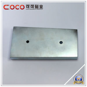 Custom Permanent Block Shape NdFeB Magnet with Countersunk Hole pictures & photos