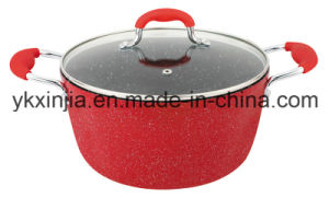 Kitchenware Forged Aluminum Marble Coating Dutch Oven pictures & photos