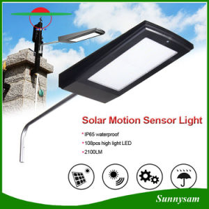 15W 108 LED Outdoor Microwave Radar Motion Sensor Lamp Solar Garden Street Light pictures & photos