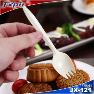 Dual Use of Portable Small Plastic BPA Free Spork pictures & photos