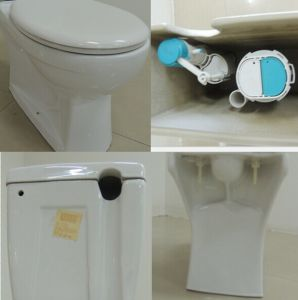 Europe Style Ceramic Washdown Two Piece Toilet Suite (6808) pictures & photos