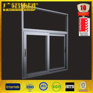 Aluminium Transverse Sliding Window with Multi-Points Lock Handle pictures & photos