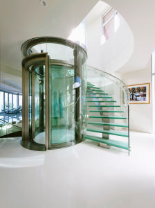 Curved Staircase (PR-C02) pictures & photos