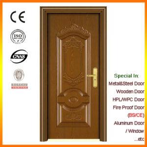 Foshan Factory Wood Grain Security Steel Door pictures & photos