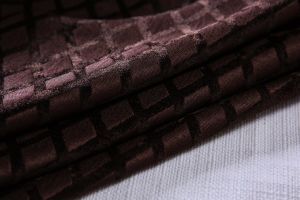 Coffee Grids Chenille Jacquard Covers for Sofa and Chair pictures & photos