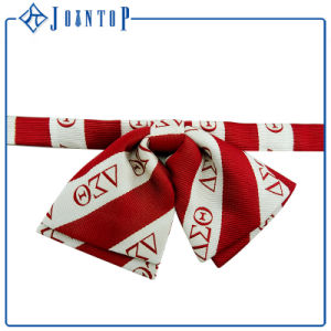 Custom Stripes Woven 100% Polyester Bow Tie pictures & photos