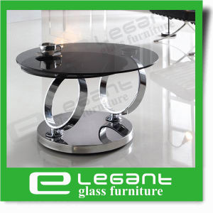 Rotatable Stainless Steel Coffee Table with Tempered Glass Top pictures & photos