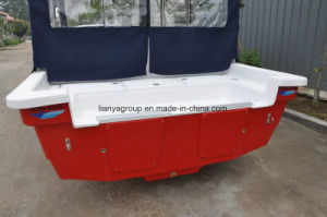 Liya Fiberglass Boat Hulls 25FT Panga Boat with Console pictures & photos