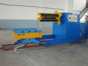 5 Tons Hydraulic Decoiler with Press Arm Automatic Uncoiler pictures & photos