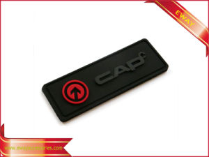 Garment Name Tag Soft Rubber Tag with Embossed Logo pictures & photos