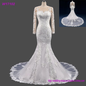 Various Style Custom Made Long Sleeves Lace Bridal Gowns Wedding Dress pictures & photos