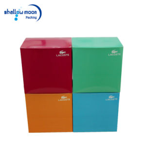 Custom Square Shape Folding Gift Boxes  Blue Red Paper Cardboard Packaging Box (QYZ006) pictures & photos