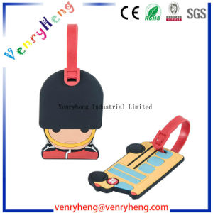 3D Cartoon Custom Rubber Luggage Tag for Promotional Gift pictures & photos
