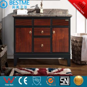 Chinese Style Bathroom Cabinet with Marble Table by-X7085 pictures & photos