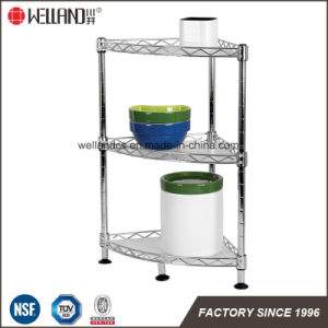 3 Tiers Chrome Metal Wire Kitchen Rack with NSF Approval pictures & photos