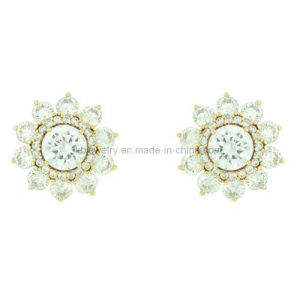 Fashion Jewelry Earrings, Plated Flower Earstud (KE3085) pictures & photos