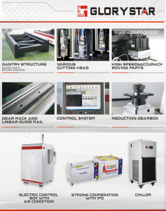 Glorystar 1000W Ipg/Rofin Fiber Laser Source Laser Cutting Machine pictures & photos