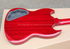 Hanhai Semi-Finished Red Black Electric Guitar Kit / DIY Guitar pictures & photos