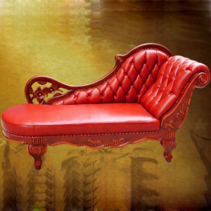 Classic Leather Chaise Lounge Sofa (95) pictures & photos