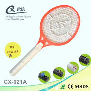 Best Qua Sales USB Charged Mosquito Killer Racket Anti Fly Bug Zapper Bat Trap Swatter China pictures & photos