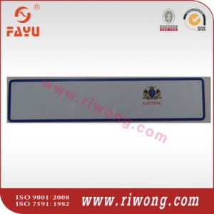 Euro Aluminum License Plate Blank with Country Script pictures & photos