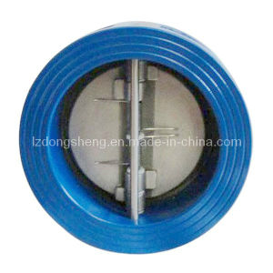 Wafer Type Split Body Butterfly Valve Spring-Loaded pictures & photos