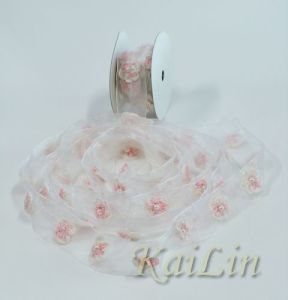 Sheer Organza Flower Ribbon (KLR-0004)