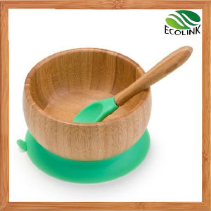 Bamboo Feeding Bowl for Baby or Children with Bamboo Spoon pictures & photos