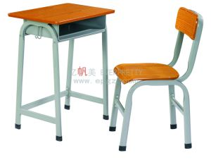 Modern School Furniture Single Student Desk and Chair (SF-07F) pictures & photos